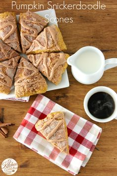 Pumpkin Snickerdoodle Scones Recipe from @Jessica l A Kitchen Addiction