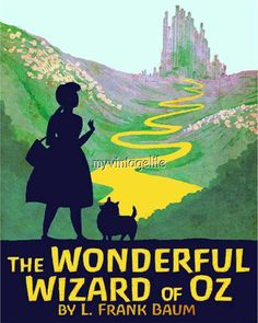 Vintage The Wonderful Wizard of Oz  Quilting Fabric Block
