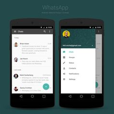 WhatsApp Redesign Concept for Android L