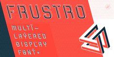 A new complex 3D display font: Frustro