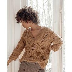 Phildar dames korte mouwen trui haken van Phil Ecocoton