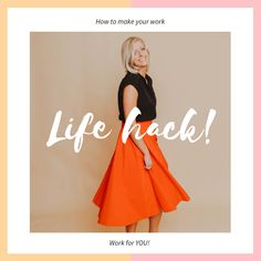 Create your dream life, learn how to make your work, work for you. Helpful and practical tips from The Office Acrobat >>>> #worklifebalance #productivity #dreamlife #careeradvice #careergoals #careertips #careercoach #career #wellness #wellnesswednesday
