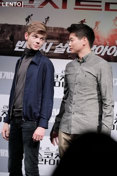Thomas Brodie Sangster & Ki Hong Lee at the ' CGV Live Talk' in Seoul on September 3, 2015 my pics, plz do not re-edit without my permission