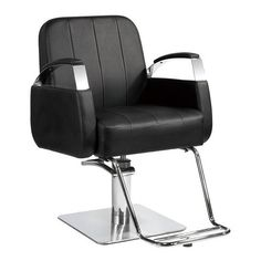 This All Purpose Styling Chair is a sleek contemporary designed barber chair. It features an adjustable seating for stylist ease and is great for styling purposes. Hairdressing Equipment, Hairdressing Chairs, Salon Furniture, School Furniture, Barber Shop Equipment, Barber Shop Chairs, Salon Trolley, Makeup Chair, European Decor