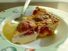 Plum and Spiced Marzipan Clafoutis
