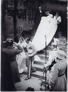 royalwatcher:  Wedding of Prince Gustaf Adolf of Sweden, Duke of Västerbotten, to Princess Sibylla of Saxe-Coburg and Gotha, October 20, 1932.  The couple had five children, including King Carl XVI Gustaf of Sweden.