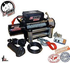 D-Rhino Vehicle Recover Electric Winch Kit 12000 lb Load Capacity Remote 12V ATV Towing Trailer Truck SUV Heavy Duty. For product info go to: https://www.caraccessoriesonlinemarket.com/d-rhino-vehicle-recover-electric-winch-kit-12000-lb-load-capacity-remote-12v-atv-towing-trailer-truck-suv-heavy-duty/