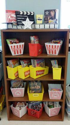 2016 Hollywood Theme Bookshelf Classroom Decor