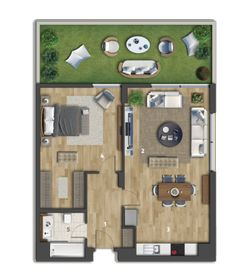 Small Modern House Plans, 3d House Plans, Cottage Style House Plans, Model House Plan, Dream House Plans, Apartment Floor Plans, Apartment Projects, Sims 4 House Design, Modern House Design