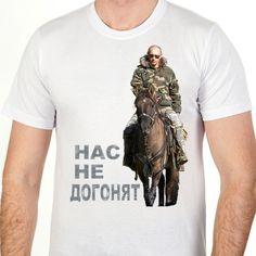 "Russian Short sleeve T-shirt with Putin /""Сool pike/"" Футболка с Путиным Black"