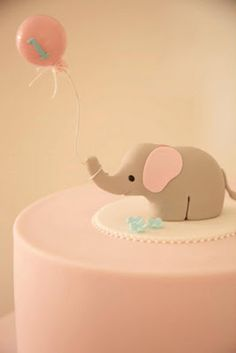 Cute elephant cake for baby shower!