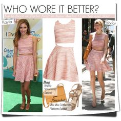Who Wore It Better?Kayla Ewell or Taylor Swift in Aqua Marled Crop Top and Skirt