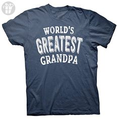World's Greatest GRANDPA Shirt - Father's Day Birthday Gift - Navy - Birthday shirts (*Amazon Partner-Link)