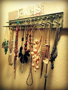 Jewelry storage. DIY necklace holder.