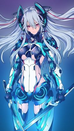 Manga illustration, artwork and designs by freelance UK anime artist Anime Sexy, Manga Anime, Manga Girl, Anime Girls, Anime Alien, Fantasy Anime, Fantasy Girl, Anime Style, Cyberpunk Kunst