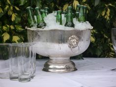 we have two vintage silver punch bowl, could use them like this,@Callie Howard