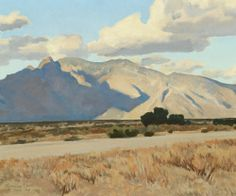 blastedheath:  Maynard Dixon (American, 1875-1946), Ridge and Rillito, Arizona, April 1943. Oil on canvas, 18 × 22 in.