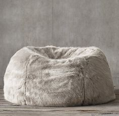 RH's Ultra Faux Fur Bean Bag