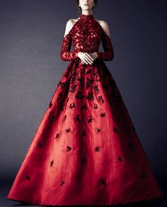 Prom dresses long with sleeves - 30 Stylist Fall Wedding Guest Dresses Ideas – Prom dresses long with sleeves Prom Dresses Long With Sleeves, High Neck Prom Dresses, Fantasy Dress, The Dress, Dress Long, High Neck Formal Dress, Formal Gowns, Red Gown Dress, Dress Girl