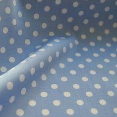 Poplin Prints - Wat Spot pale blue with white spot