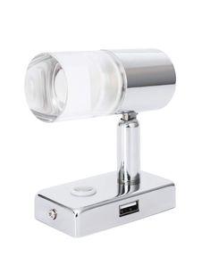 2X Dream Lighting LED Lampada orientabile da lettura lampada da comodino da 12V con interruttore programmato per Camper//Roulotte//Luce da lettura Bianco caldo e Blu
