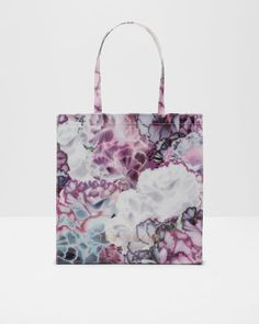 Illuminated Bloom large shopper bag - Purple | Bags | Ted Baker UK