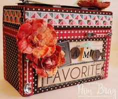 Scrapbook Flair: Pam Bray Designs: Home Sweet Home Recipe Box with Xyron