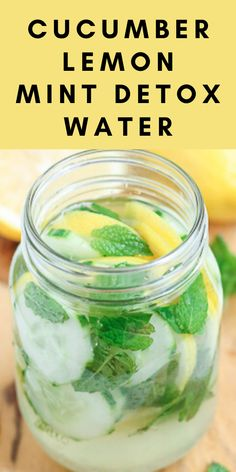 For many, dehydration can be an issue. This Minted Lemon Cucumber Detox Water will super charge that hydration! Easy to make and refreshing to drink, this will become a staple recipe when you feel that need to clean out the system. Lemon Cucumber Mint Water, Mint Detox Water, Cucumber Drink, Cucumber Detox Water, Lemon Drink, Mint Water Benefits, Drinking Lemon Water, Lemon Detox, Water Recipes
