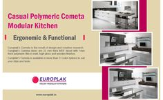 Casual Polymeric Cometa Modular Kitchen For more details Visit : http://www.europlak.in/