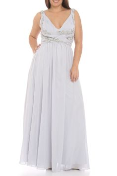 Colors Dress Nettchen Long Dress in Silver - Beyond the Rack