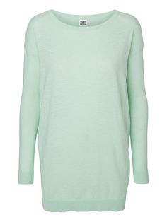 Long knit jumper from VERO MODA in cool pastel. We love knitwear!