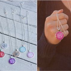 Monogrammed Pendant Necklaces