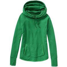 Athleta Women Sentry Hoodie Sweatshirt Size XXS ($89) ❤ liked on Polyvore featuring green, tops, sweatshirt, hoodies and athleta