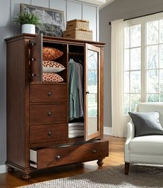Oxford Transitional Door Chest with Removable Shelves and Clothing Rod by Aspenhome at Belfort Furniture Hudson Furniture, Fine Furniture, Kitchen Furniture, Bedroom Furniture, Furniture Ideas, Furniture Removal, Furniture Online, Bedroom Decor, Transitional Doors