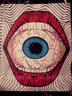 #lips #eyeball #trippy #drawing #art - Jayda Jumper
