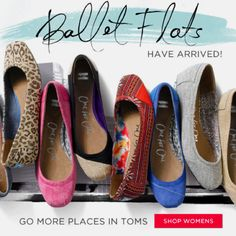 Loving these Toms ballet flats!