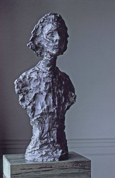 Alberto Giacometti — Bust of Annette, Sculpture: Bronze, x x cm. San Francisco Museum of Modern Art, United States. Alberto Giacometti, Sculpture Clay, Abstract Sculpture, Bronze Sculpture, Sculpture Portrait, Metal Sculptures, Antoine Bourdelle, Statues, Plastic Art