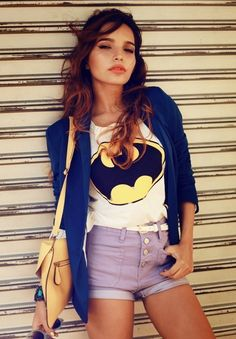 Fancy - Batman White Tee