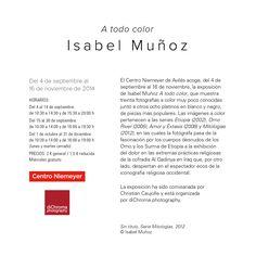 Isabel Muñoz en el Centro Niemeyer