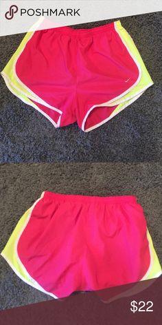 NIKE SHORTS Women's Nike shorts!! Hot pink and neon yellow! Super cute and comfy! Nike Shorts