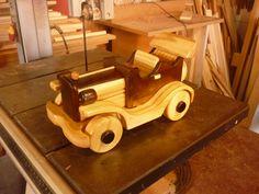 carrinho em madeira