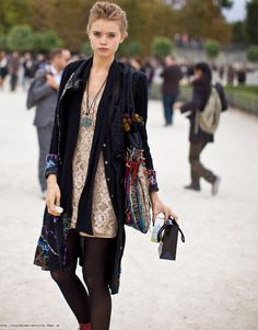 abbey lee kershaw velour jacket and lace dress