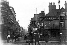 Clumber Street, Nottingham, c Street Image, Street View, Local History, Family History, Nottingham Pubs, British Pub, Old Pub, Shopping Street, Uk Photos