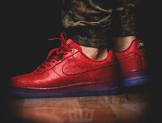 Nike Air Force 1 CMFT Lux Low Red Ostrich