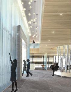 modern architecture/ By Marie Yates, cultural design, native american buildings, modern interior design, renderings Interior Design Renderings, Black Interior Design, Interior Rendering, Commercial Interior Design, Commercial Interiors, Corporate Interiors, Office Interiors, American Interior, Design Apartment