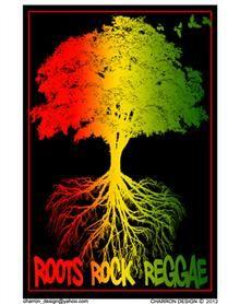 Roots Rock Reggae Blacklight Poster