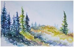 """""""Huckleberry Hill"""" watercolour painting 7x10 inches 