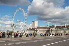 """""""They walked together along the embankment, past the bookstall under Waterloo Bridge, and all the way along past the London Eye to the old County Hall buildings. Waterloo Bridge, Walk Together, London Eye, All The Way, Buildings, Old Things, Street View, Travel, Viajes"""