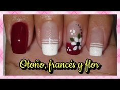 DECORACIÓN DE UÑAS OTOÑO | FLOR Y FRANCÉS ♥♥♥ NailArt By Andy - YouTube Nailart, Nail Designs, Nail Polish, Make It Yourself, Design Ideas, Google, Flower, Nail Manicure, French Tips
