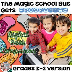 Digital activities for the book The Magic School Bus Gets Programmed that are perfect for grades K-2. 12 total digital activities that will help students expand their understanding of this great read aloud storybook. I designed this for technology teachers so that you can read the same book to all 3 grade levels and then assign them different activities.
